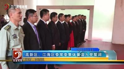 全体高新区(江海区)委常委集体重温入党誓词