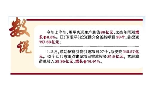 恩平市:下半年将重点抓好六项工作