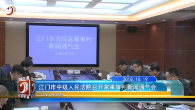 江门市中级人民法院召开家事审判新闻通气会