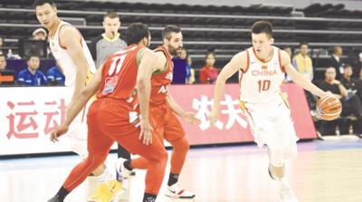 中国72:52黎巴嫩 红蓝队合并后喜获两连胜