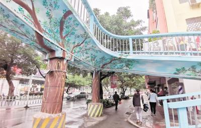 """""""最老""""天桥焕新颜 市民盼进一步完善设施、增建天桥"""