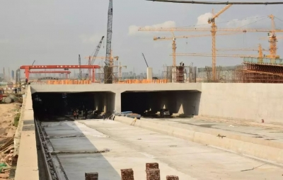 江门大道江门站下穿隧道土建施工基本完成