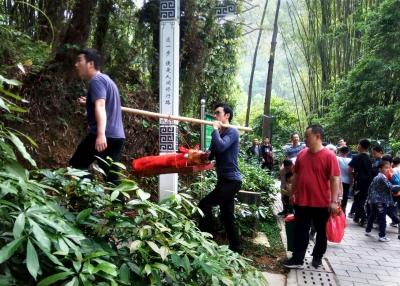 市民前往江门市白水带山,开展扫墓祭祖先活动