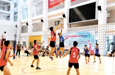 高中生排球比賽收官 臺山一中成雙料冠軍
