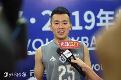 中国男排27日抵达江门 开展赛前训练 备战世排联赛