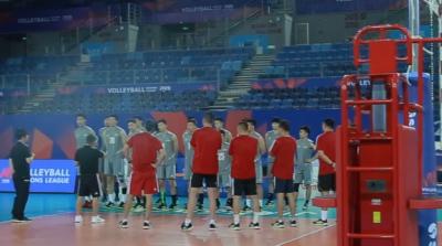 中国男排今日抵达江门 开展赛前训练