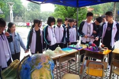 恩平一中舉辦校園科技文化藝術節,用科技藝術激發學生學習熱情
