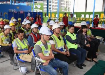 新会碧桂园九期项目 开展关爱工友健康义诊活动  为200多名一线建筑工人送温暖