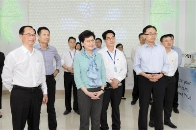 香港特别行政区行政长官林郑月娥率队到我市考察 推动江港加强合作共建活力湾区