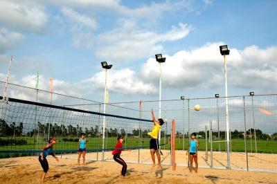 探秘隱于臺山鄉村的新疆女子沙灘排球基地