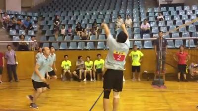 恩平市直機關黨員男女子混合氣排球比賽精彩落幕