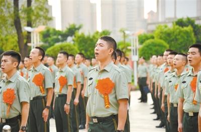 武警江门支队139名退伍老兵,挥泪告别军营