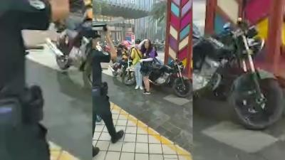 风雨中 ,蓬江公安用警盾撑起避风港湾...