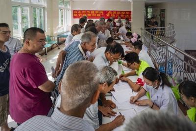 台山市大江镇卫生院开展退役军人免费义诊活动