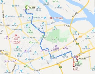 江门这两条公交线路有变!新增这些站点!