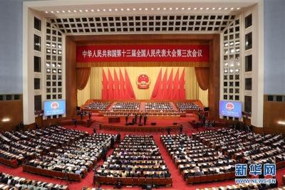 十三届全国人大三次会议举行第二次全体会议 习近平等党和国家领导人出席