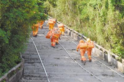 五支专业森林消防队伍集结梁金山公园 以赛代练,比拼灭火技能