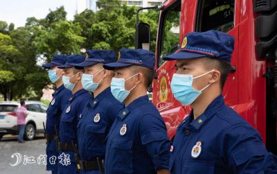 高考首日,江门消防为高考学子保驾护航!